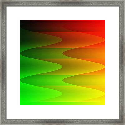 Framed Print featuring the digital art Colorful Waves by Kathleen Sartoris