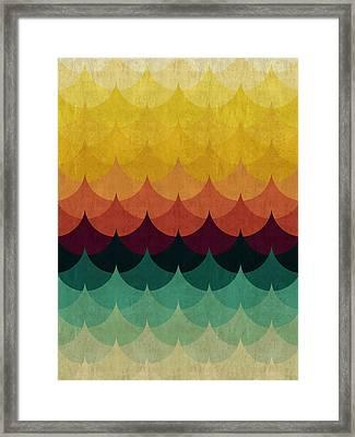 Colorful Waves Framed Print