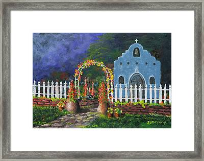 Colorful Welcome Framed Print by Jerry McElroy