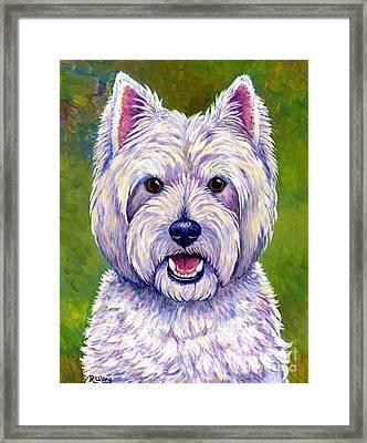 Colorful West Highland White Terrier Dog Framed Print