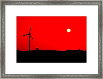Colorful Wind Power 2 Framed Print by Andy Fung