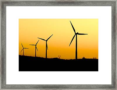 Colorful Wind Power 3 Framed Print by Andy Fung