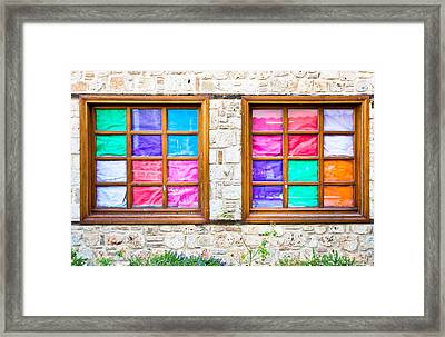 Colorful Windows Framed Print by Tom Gowanlock