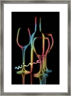 Colorful Wine Framed Print