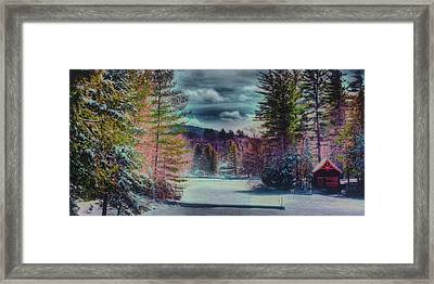 Framed Print featuring the photograph Colorful Winter Wonderland by David Patterson
