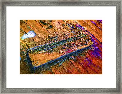 Colorful Wood Abstract Framed Print by Donald  Erickson