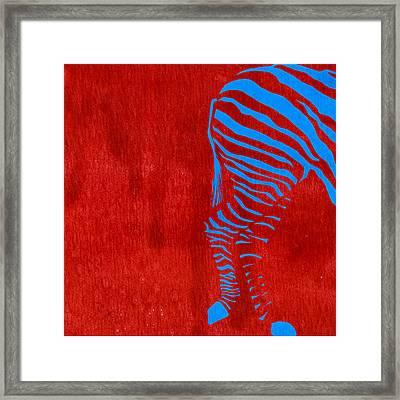 Zebra Animal Colorful Decorative Poster 9 - By  Diana Van Framed Print by Diana Van