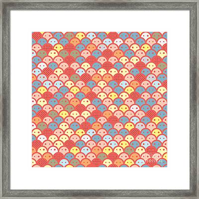 Colorfull Potatos Pattern Framed Print by Ace Of Spades