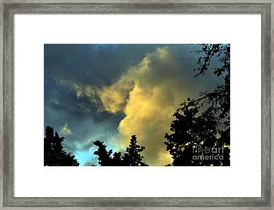 Coloring Clouds Framed Print by Clayton Bruster