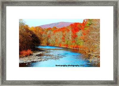 Coloring The Kittatinny Framed Print