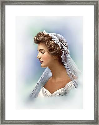 Colorized Jacqueline Bouvier Kennedy 1953 Framed Print by Alex Lim