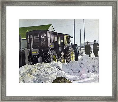 Colorized Tractors By Grandpa II - 1949 Framed Print
