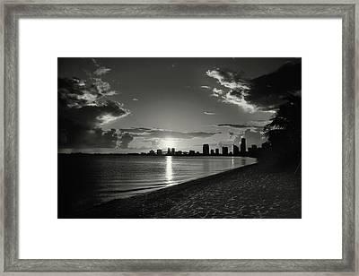Colorless Sunset Framed Print