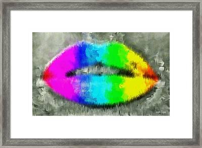 Colorlips - Pa Framed Print