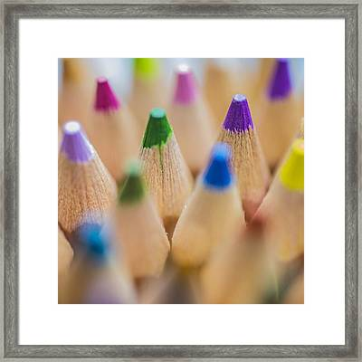 #colormebadd #color #coloredpencils Framed Print