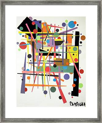 Colorpop 1 Framed Print by Teddy Campagna