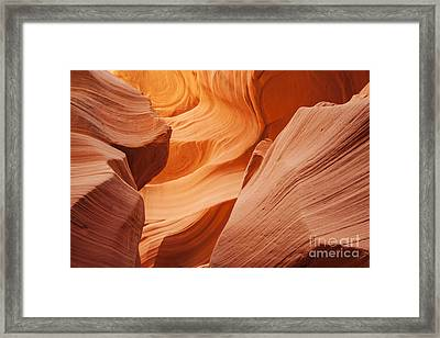 Colors Abound In The Canyon Framed Print by Ruth Jolly