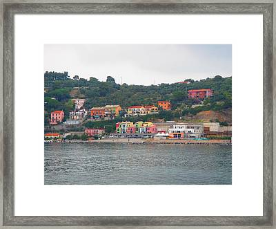 Colors Along The Coast Framed Print