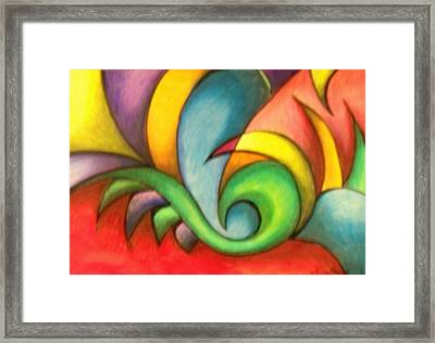 Colors And Curves II Framed Print by Karina Repp