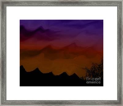 Colors At Dusk Framed Print