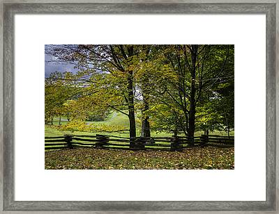 Framed Print featuring the photograph Colors At Mac Rae Field by Ken Barrett