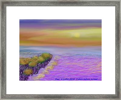 Colors Before Sunset Framed Print