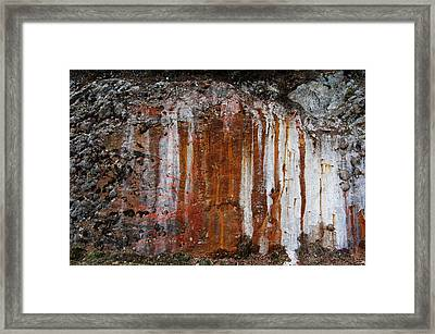 Colors Below A Gold Mine Framed Print by Sarah King