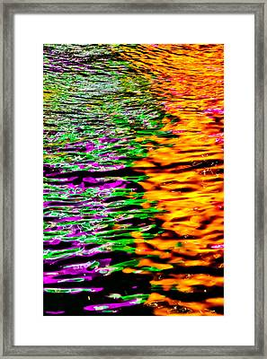 Colors Collide Framed Print by Az Jackson