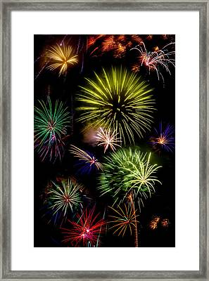 Colors Exploding Over Heard Framed Print