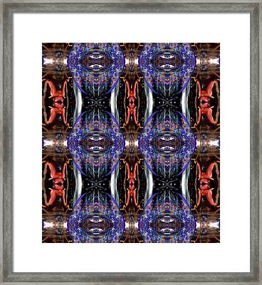 Framed Print featuring the digital art Colors Eye 5 by Michelle Audas