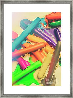 Colors In Crossfade Framed Print