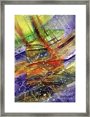 Framed Print featuring the painting Colors Interrupting by Allison Ashton