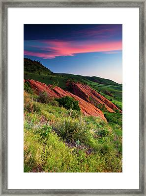 Framed Print featuring the photograph Colors Of A Colorado Spring Sunrise by John De Bord