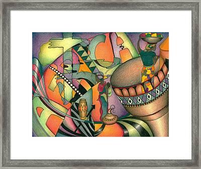 Colors Of Africa Framed Print