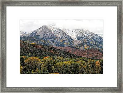 Colors Of Autumn On Mcclure Pass Framed Print by Dan Sproul