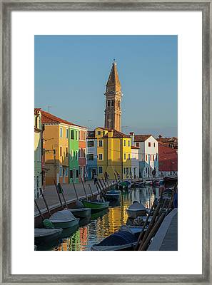 Colors Of Burano 1 Framed Print by Art Ferrier