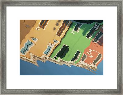 Colors Of Burano 2 Framed Print by Art Ferrier