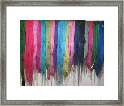 Colors Of Cashmere Framed Print