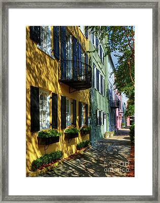 Colors Of Charleston 3 Framed Print by Mel Steinhauer