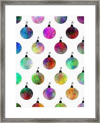 Colors Of Christmas Framed Print