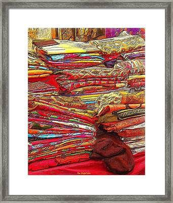 Colors Of Cloth Framed Print