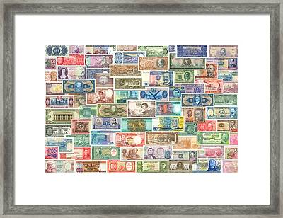 Colors Of Currency Framed Print by Stephen Younts