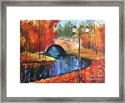 Colors Of Fall Framed Print by Viktoriya Sirris