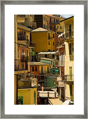 Colors Of Manarola Italy Framed Print by Roger Mullenhour