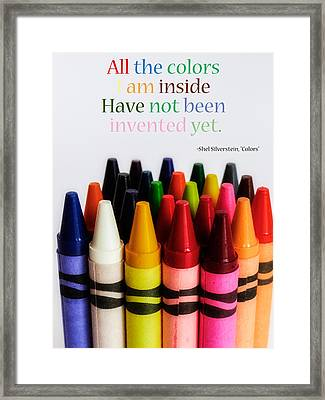 Colors Of Me Framed Print