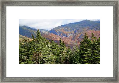 Colors Of Mount Mansfield Vermont In October Framed Print