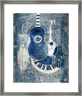 Colors Of Music 6 Framed Print by Aliza Souleyeva-Alexander