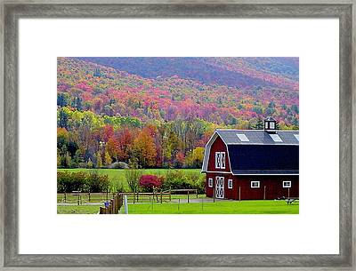 Colors Of New England Framed Print by Rick  Monyahan