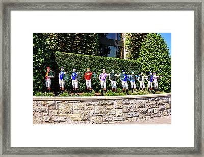Colors Of Past Stakes At Keeneland Ky Framed Print by Chris Smith
