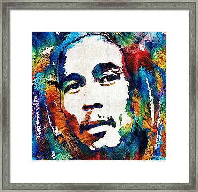 Colors Of Reggae - Bob Marley Tribute Framed Print